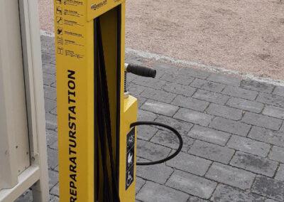 Reparaturstation für Fahrräder Museumshof